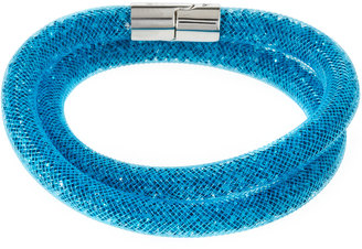 Swarovski Stardust Convertible Crystal Mesh Bracelet/Choker, Blue, Medium $60 thestylecure.com