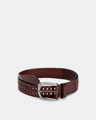 Ted Baker CURED Leather woven belt