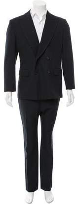 Hermes Wool Double-Breasted Two-Piece Suit