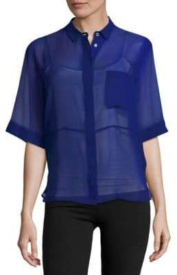 MSGM Silk Sheer Shirt