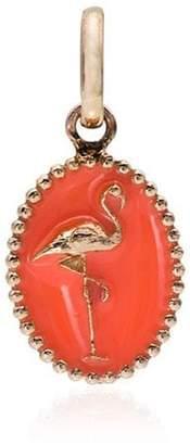Gigi Clozeau orange and rose gold flamingo charm