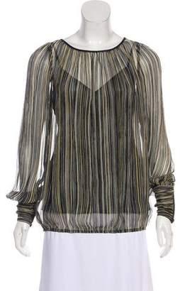 Rachel Zoe Printed Silk Blouse