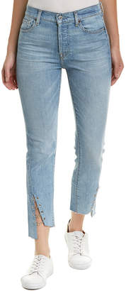 7 For All Mankind Seven 7 Edie Light River High-Rise Straight Crop