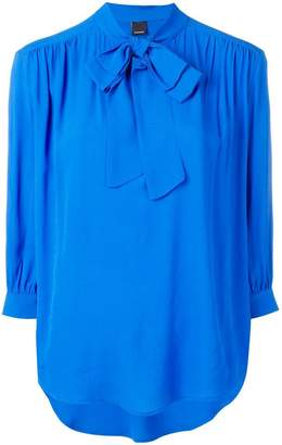 Pinko neck-tied flared blouse