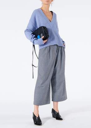Tibi Gingham Bianca Cropped Pants