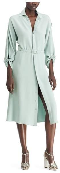 Ralph Lauren Collection Ralph Lauren Collection Karen Silk Crepe Shirtdress