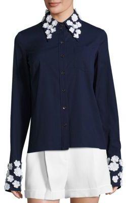 MICHAEL Michael KorsMichael Kors Collection Floral Button Front Shirt