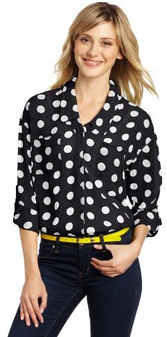 My Michelle Juniors Polka Dot Blouse