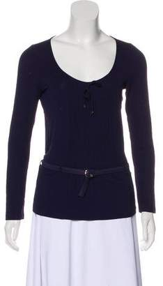 Gucci Long Sleeve Belted Top