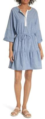 Joie Ecidra Drawstring Waist Chambray Dress