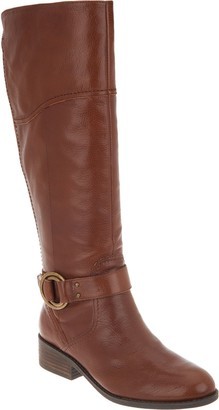 Marc Fisher Wide Calf Leather Riding Boots - Gatway