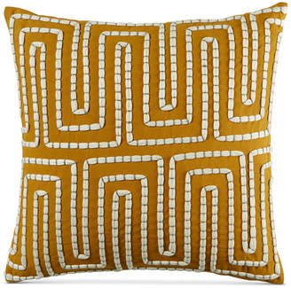 """Martha Stewart Collection CLOSEOUT! Collection Maze 18"""" Square Decorative Pillow, Created for Macy's"""