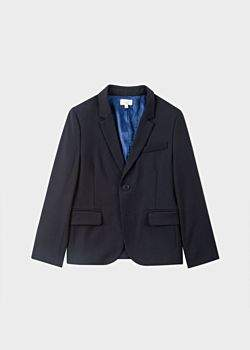 Paul Smith Boys' 12-16 Years Navy 'A Suit To Smile In' Wool Blazer