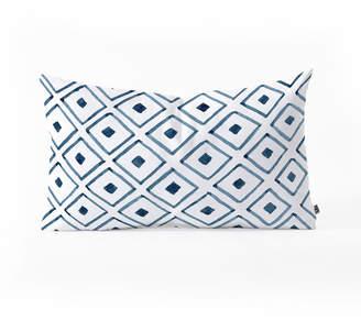 Deny Designs Social Proper Indigo Ascot Oblong Throw Pillow