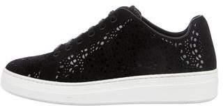 Alaia Laser Cut Low-Top Sneakers