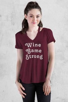 francesca's Wine Game Graphic Tee - Burgundy
