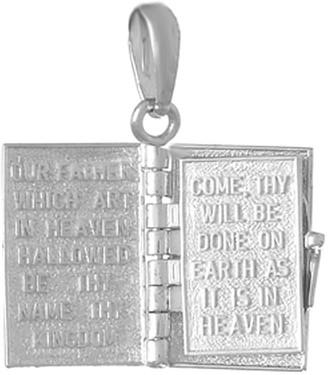 """Lord's Prayer"" Book Pendant Sterling/14K Gold"