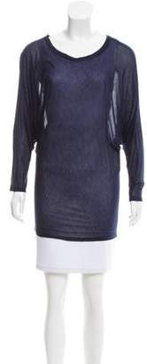 L'Agence Asymmetric Long Sleeve T-Shirt