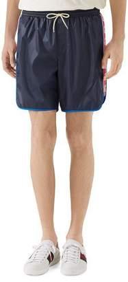 33cb35047f Gucci Men's Logo-Stripe Swim Trunks