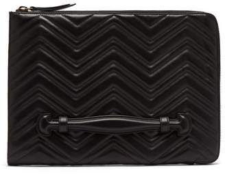 Gucci Gg Marmont Leather Pouch - Mens - Black
