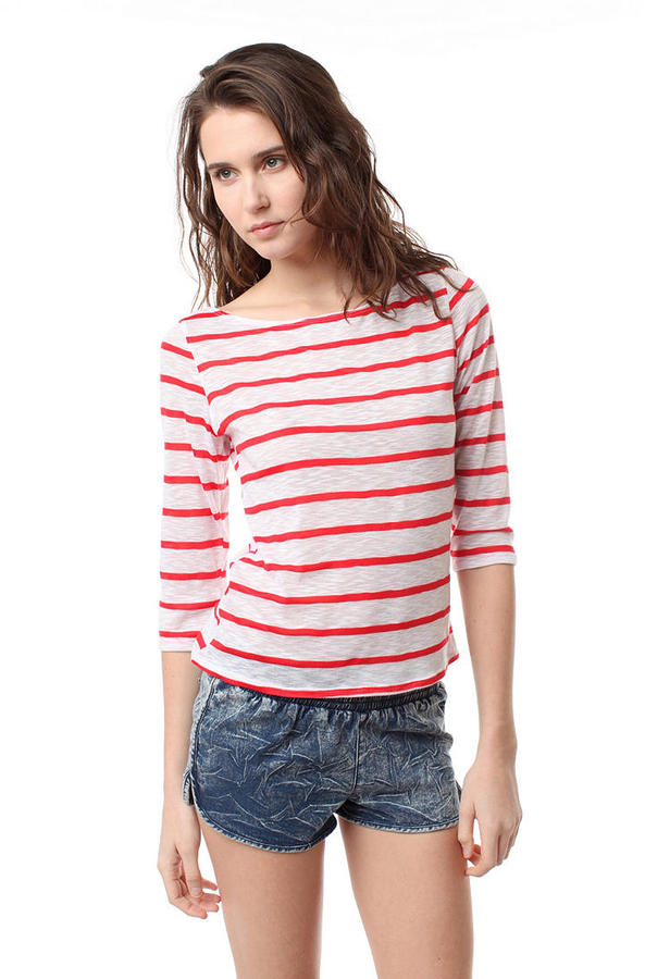 BDG 3/4 Sleeve Nautical Tee