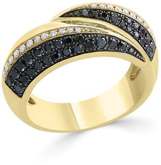 Bloomingdale's Black & White Diamond Band in 14K Yellow Gold - 100% Exclusive