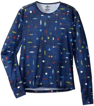 Hot Chillys Kids Midweight Print Crew Boy's Clothing