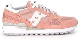 Saucony Sneaker Shadow In Pale Pink Suede And Fabric Mesh