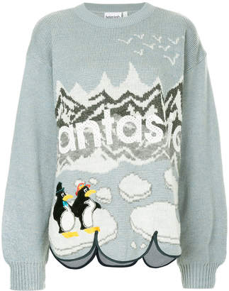 Yeah Right! Fantastic penguin knit sweater