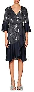 By Ti Mo byTiMo Women's Dot-&-Floral Crepe Wrap Dress-Navy