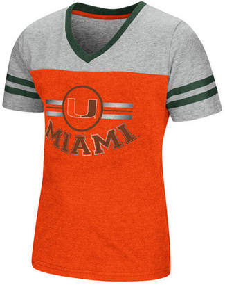 Colosseum Miami Hurricanes Pee Wee T-Shirt, Girls (4-16)