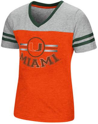 Colosseum Miami Hurricanes Pee Wee T-Shirt, Girls (4-16)