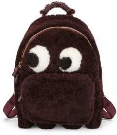 Anya Hindmarch Mini Ghost Faux Fur Backpack