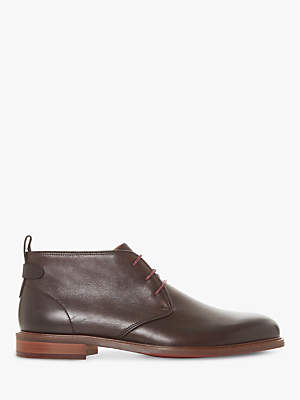 Dune Marchmont Leather Chukka Boots, Brown