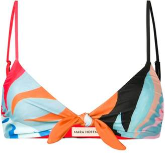 Mara Hoffman abstract-print bikini top