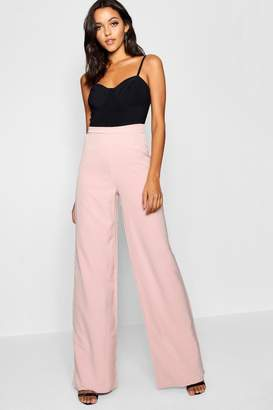 boohoo Tall High Waisted Woven Wide Leg Pants