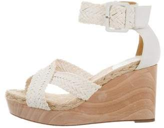 Hermes Woven Leather Wedges