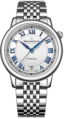 Dreyfuss & Co Dreyfuss Womens Analogue Classic Automatic Watch with Stainless Steel Strap DLB00148/01