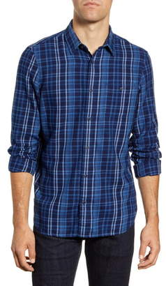 1901 Trim Fit Plaid Flannel Button-Up Sport Shirt