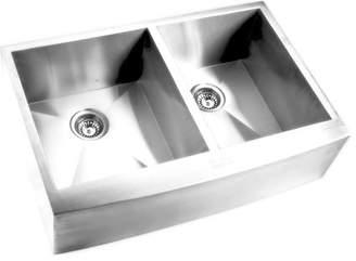 Y Decor Hardy Double Bowl Apron Sink