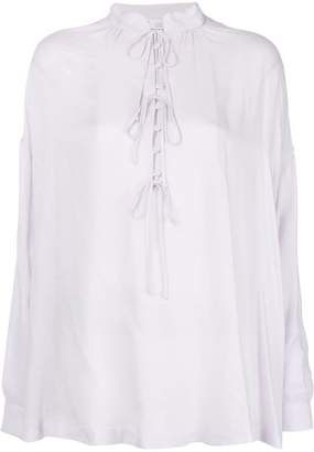 IRO lace-up flared blouse