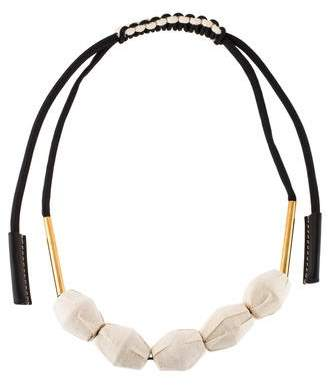 Marni Fabric Beaded Necklace