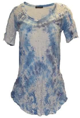David Cline Blue Multicolored Top