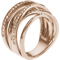 Michael Kors Pave Stacked Ring, Rose Golden
