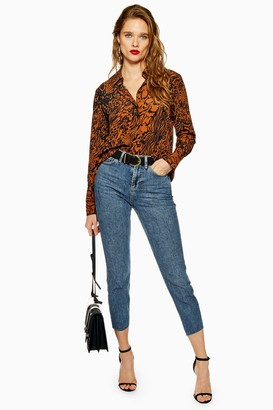 Topshop PETITE Mid Stone Straight Jeans