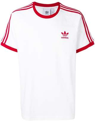 adidas stripe detail T-shirt