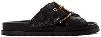 Sacai Black Patchwork Straps Sandals