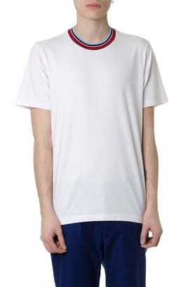 Marni Cotton T-shirt With Striped Collar
