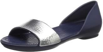 Crocs Women's Lina Embellished Dorsay Flat Sandal
