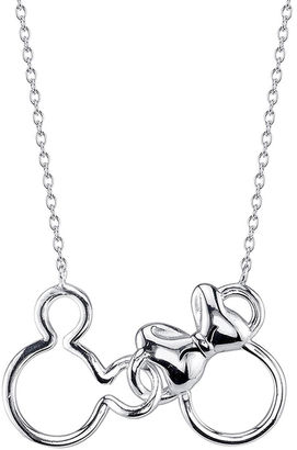 DISNEY Disney Mickey Mouse and Minnie Mouse Sterling Silver Best Friends Necklace $156.23 thestylecure.com